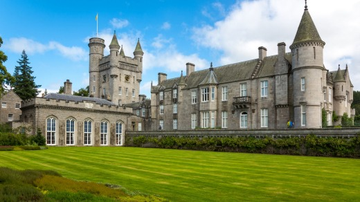 Balmoral Castle, the summer residence of the royal family.