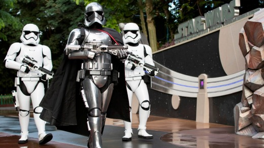 Darth Vader and the Stormtroopers stalk the streets as Star Wars takes over Disneyland Hong Kong.