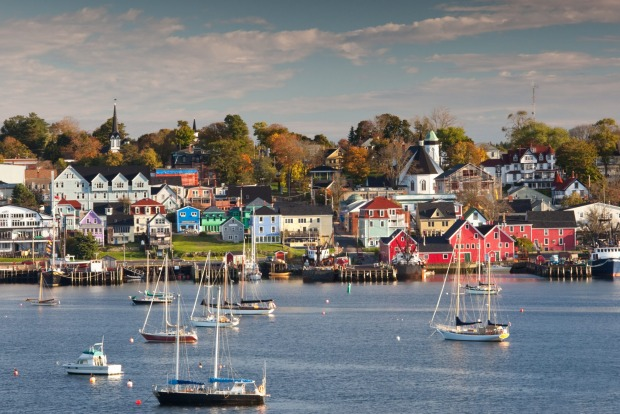 The beautiful and historic town of Lunenburg, Nova Scotia.