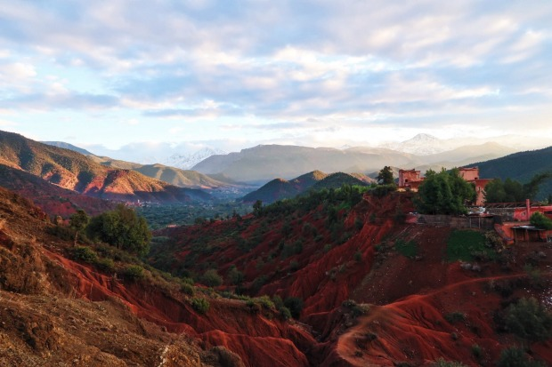 This photograph was taken during a trek last November to visit a Berber family in the Ourika Valley, Morocco. The sun ...