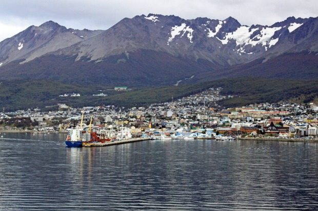"""We approached, Ushuaia, by ship on the Beagle Channel. Known as the """"End of the World """", Ushaia is the southernmost city ..."""