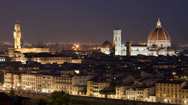 A beautiful view of the dome of the Basilica in Florence Italy just after sunset. Florence was a definite highlight in ...