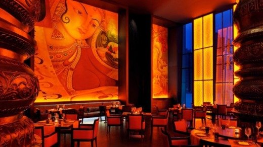 The hotel restaurants include Rang Mahal by Atul Kochhar.