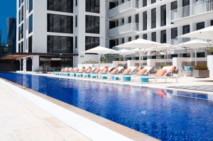 A 50-metre outdoor pool is one of the facilities available at The Johnson, Brisbane.
