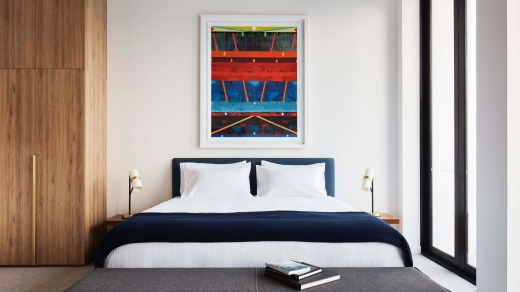 Every room in the hotel features an art work by Michael Johnson.