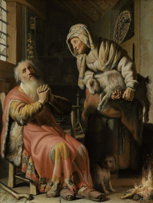 Tobit and Anna with the Kid, Rembrandt, Rijksmuseum Amsterdam, Netherlands.