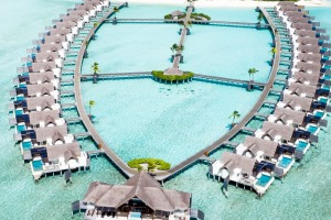 The overwater villas at Per Aquum Niyama, Maldives.