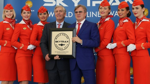 Russia's Aeroflot was named Best Airline in Eastern Europe in the 2016 Skytrax Awards.