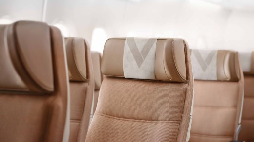The Etihad Airways A330-200's seat configuration is 2-4-2 and the seats are basic, but comfortable.