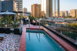 The pool at the Luciano K Hotel, Santiago.