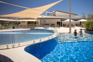 A resort-style swimming pool is one of many great updates to the hotel.