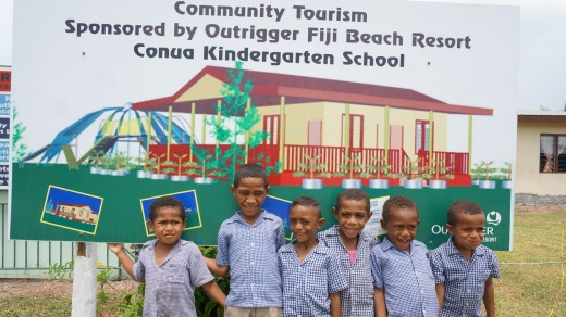 Children at Conua Kindergarten School.