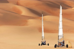 Desert sailing from the Qasr Al Sarab Resort.