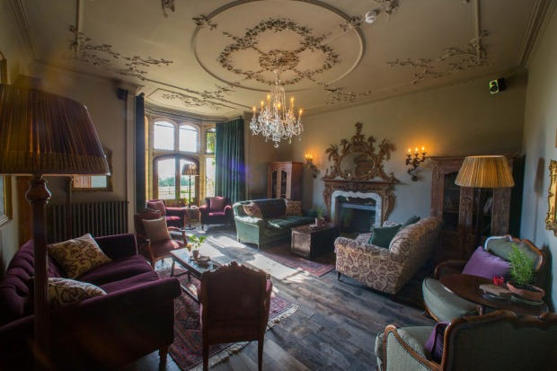 "The Pig at Coombe, Devon, UK: The latest in the eclectic ""Pig"" hotel range, the Pig at Coombe opened last year in an ..."