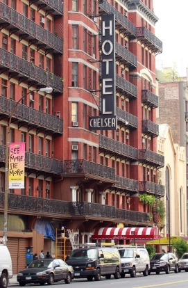 The Chelsea hotel on West 23rd Street in New York, USA.