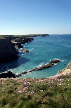 The Cornish coast is famed for its dramatic cliffs.