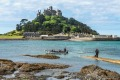 St Michael's Mount, Cornwall:  A medieval abbey-fortress.