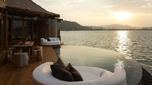 Bliss: The view out over the infinity pool.