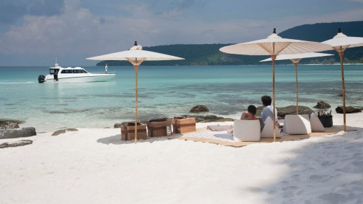 Song Saa offers pristine white sand beaches.