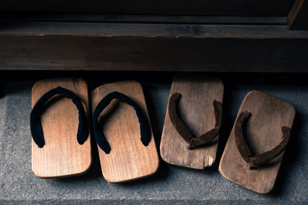 Traditional Japanese geta. Minimalism is at the core of the Japanese aesthetic.