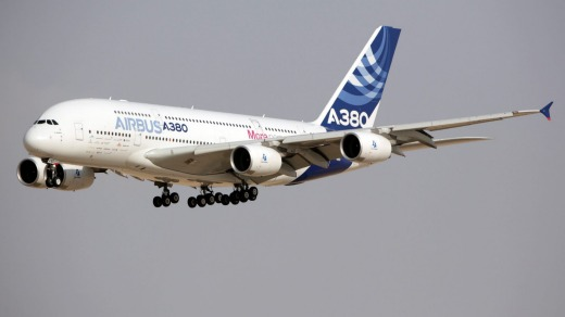 Airbus may add extended wings to its A380 superjumbo, the world's biggest passenger aircraft.