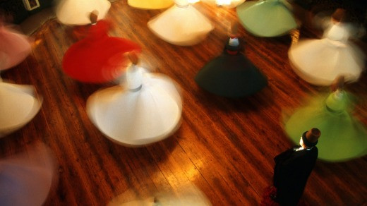 This ceremony of The Whirling Dervishes.