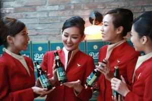 Betsy: Cathay Pacific's beer is designed to taste great at high altitude.