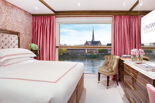 Stateroom on Uniworld's SS Joie de Vivre: The newest river-ship in Europe will be christened at the end of March and ...