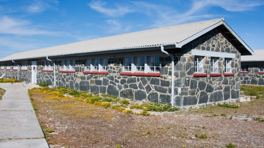 Prison barracks on Robben Island.