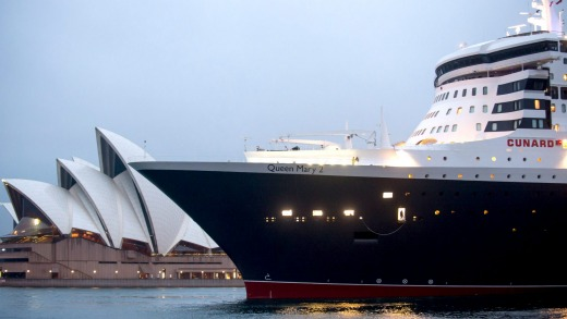 Queen Mary Queen Elizabeth Cruise Ships Meet In Sydney Harbour - Princess mary cruise ship