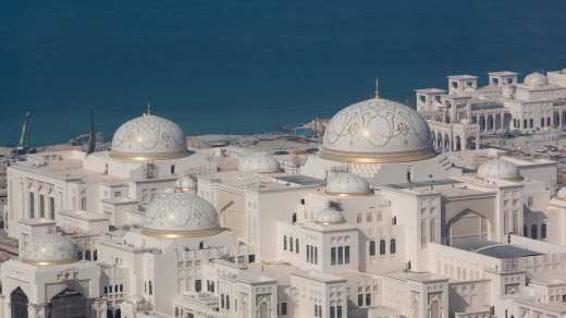 The enormous new Presidential Palace in Abu Dhabi.