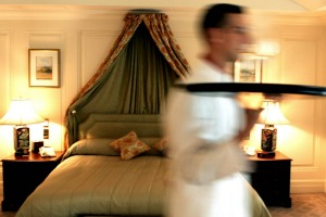 Room service still has its own special, pampering, wagging-school type of magic, especially if you do it right.