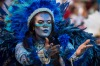 A performer dances during Beija Flor performance at the Rio Carnival at Sambodromo in Rio de Janeiro, Brazil.