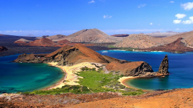 The view from Bartolome Island.