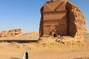 Mada'in Saleh, a UNESCO World Heritage Site, in Saudi Arabia. The country will begin granting tourist visas for the ...