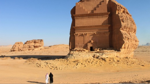 Mada'in Saleh, a UNESCO World Heritage Site, in Saudi Arabia. Saudi Arabia was one of the most difficult countries to ...