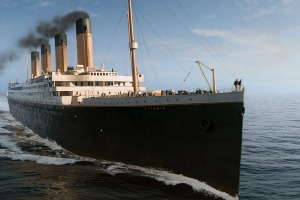 Titanic, as seen in the hit movie of the same name.