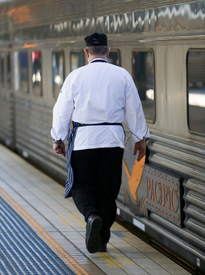 The chef is responsible for feeding passengers travelling between Darwin and Adelaide on The Ghan.