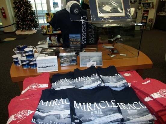 Flight 1549 items in the museum's gift-shop lobby: Museum attendance more than doubled after Sully reached the big screen.