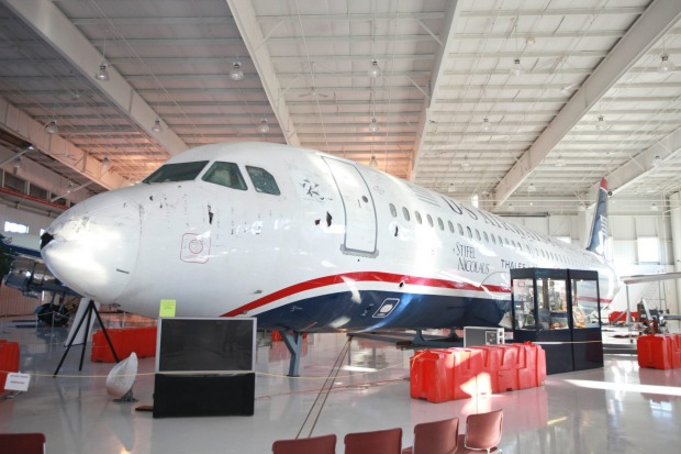 The 'Miracle on the Hudson' plane is now a major tourist attraction at the Carolinas Aviation Museum, in North Carolina ...