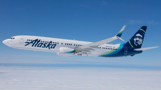 An Alaska Airlines Boeing 737.