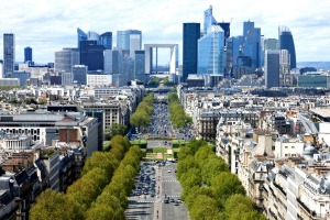 Paris view towards La Defense.
