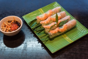 Goi cuon, or summer rolls, are one of the most popular finger foods.