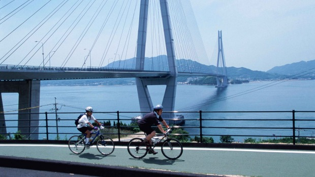 Cycling in Hiroshima: An antidote to Japan's freneticism.