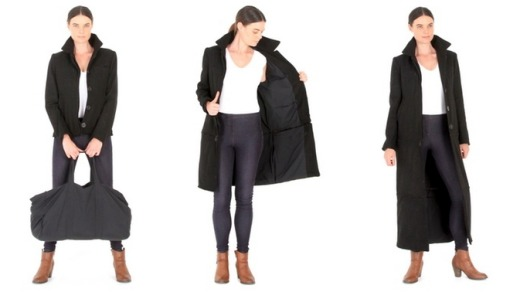 The Airport Jacket is designed to be worn three ways.