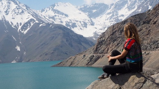 Embalse el Yeso reservoir.