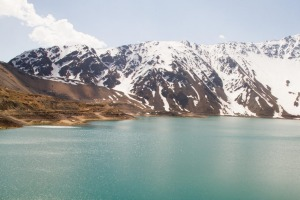 Embalse el Yeso reservoir supplies drinking water to Santiago.