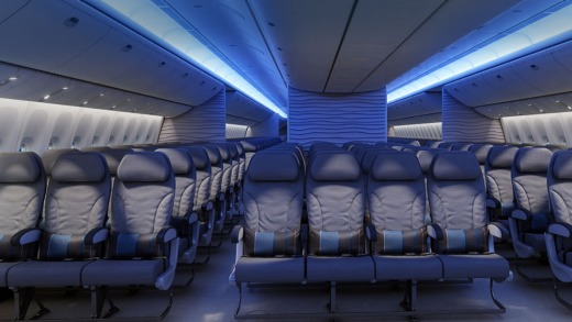 Airlines are opting for rows of 10 seats, rather than nine, in the Boeing 777.