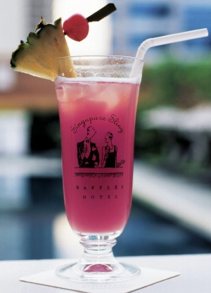 The iconic thing to do on a stay at the Raffles, have a Singapore Sling.