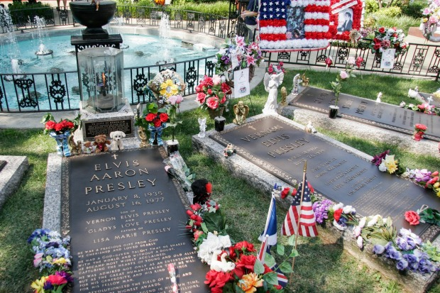 Going to Graceland: Fans continue to flock to Elvis Presley's final resting place.